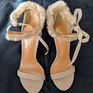 Shoes - Faux fur heels